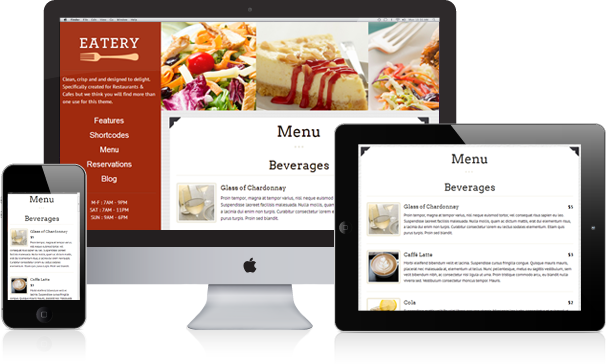 Features of top restaurant website designs